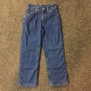 Boys Levi's 550 Relaxed Fit Jeans Slim Sz 7X